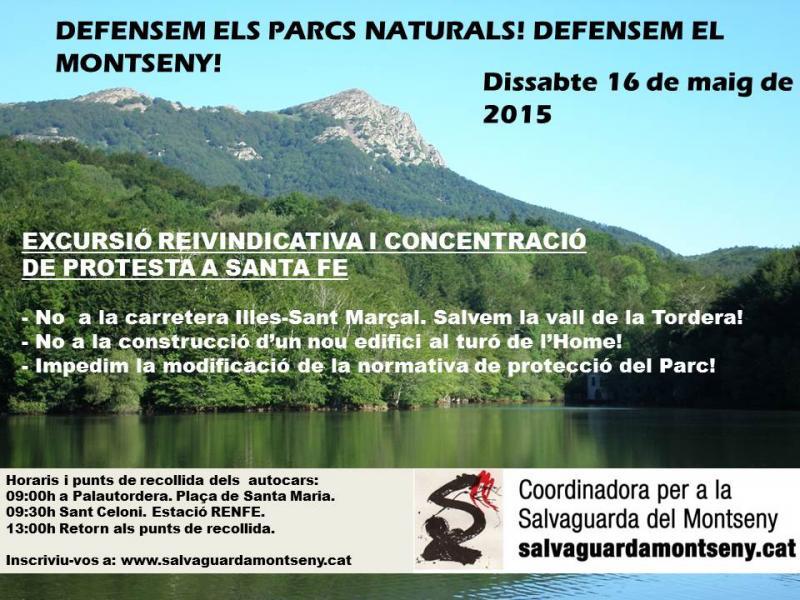 Defensem els parcs naturals! Defensem el Montseny!
